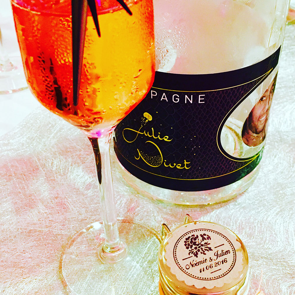 Bouteilles de champagne personnalisées - Mariage