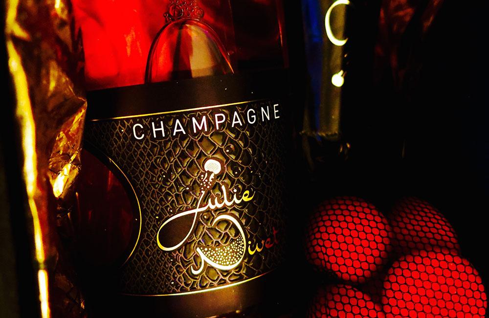 Etiquette Champagne Rosé