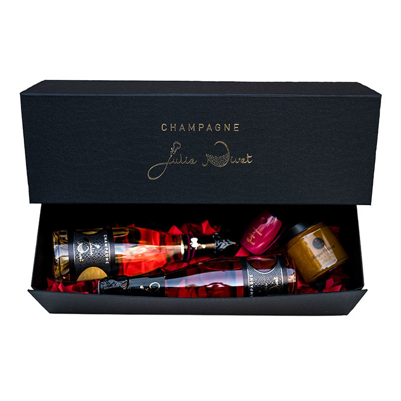 Coffret gourmand Champagne Julie Nivet
